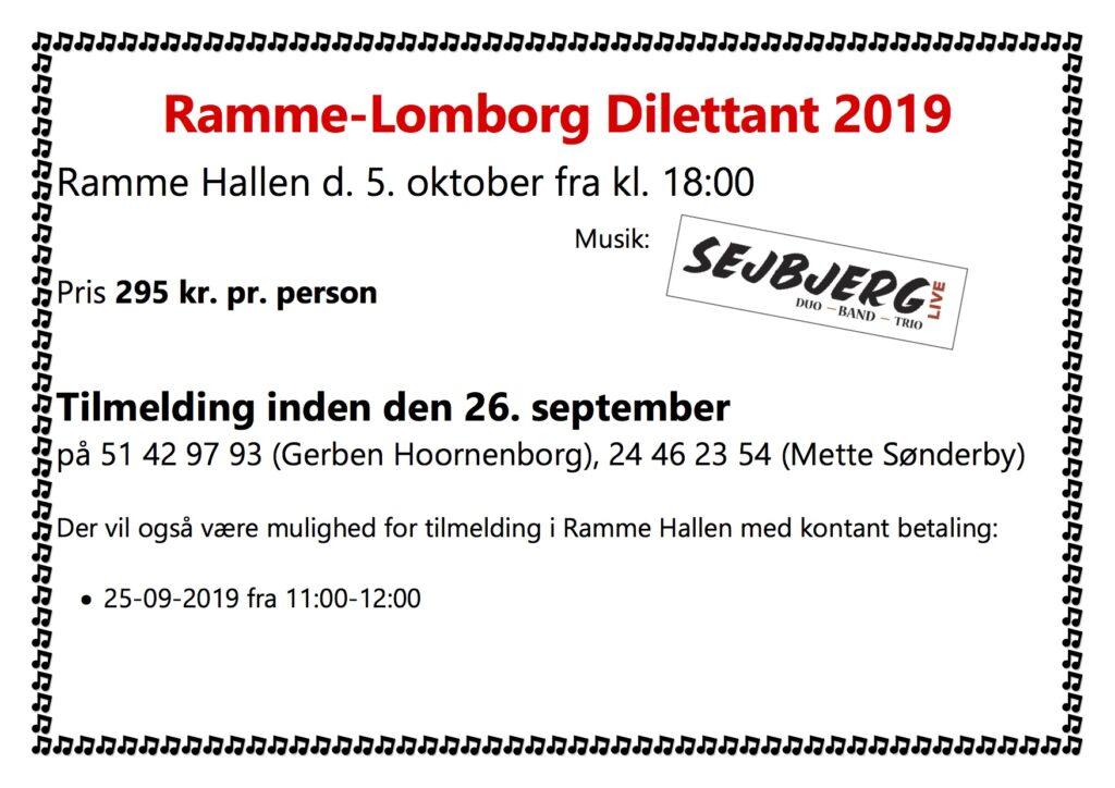Ramme Lomborg Dilettant 2019