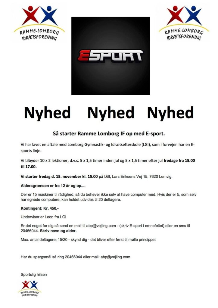 NYHED – E-SPORT – NYHED
