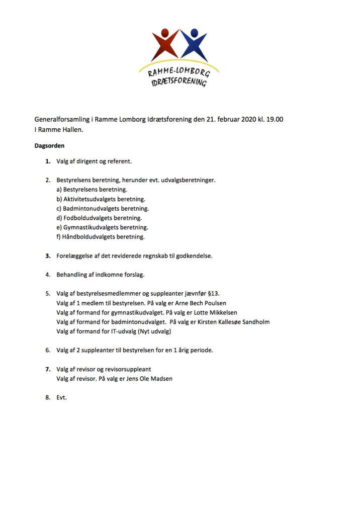 Generalforsamling 2020