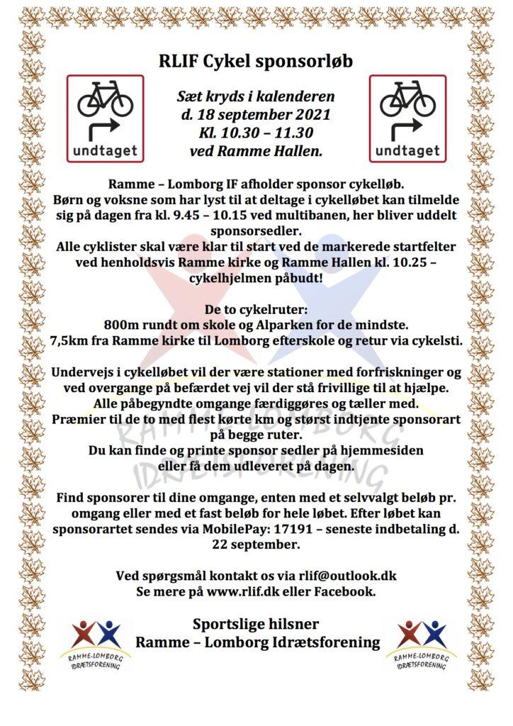 RLIF Cykel Sponsorløb 2021